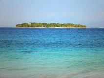 Paradise Island in Fiji. Amazing view of a beautiful tiny island in Fiji royalty free stock image