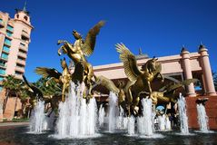 Paradise Island Fountain Stock Photography
