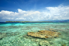 The paradise island of Gili Meno. Indonesia Stock Photos
