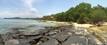 Paradise island landscape Koh Ta Kiev, Sihanoukville, Cambodia Royalty Free Stock Photo