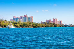 Paradise Island. NASSAU, BAHAMAS - JAN. 13, 2013: The Atlantis Paradise Island resort, located in the Bahamas. The resort cost $800 million to bring to life the Stock Photography