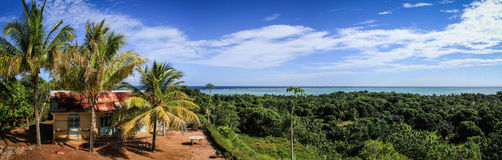 Paradise Island Panorama from the Lighthouse, Île aux Nattes, Madagascar Royalty Free Stock Photography