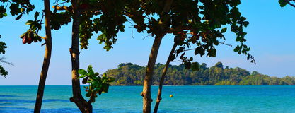 Paradise Island panorama royalty free stock photo
