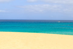 Paradise Island in sal cape verde boat Stock Images