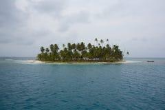 Paradise island, San Blas Royalty Free Stock Images