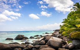 Paradise beach in the Seychelles Stock Image