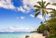 Paradise beach in the Seychelles Royalty Free Stock Photos