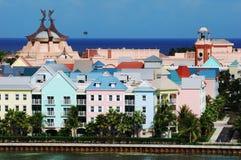 Paradise Island Town Stock Photo