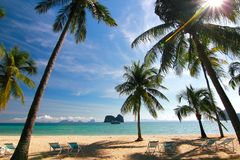 The paradise island in Trang Province , Thailand Stock Photos