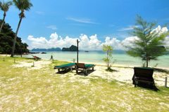 The paradise island in Trang Province , Thailand Royalty Free Stock Images