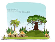 Paradise island Travel background Happy world collection Royalty Free Stock Photography
