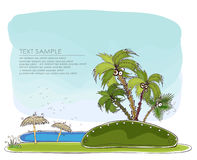 Paradise island Travel background Happy world collection Royalty Free Stock Images