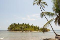 Paradise Islands in Guna Yala, Kuna Yala, San Blas, Panama. Sunset. Sunrise. Paradise islands in Guna Yala, Kuna Yala, San Blas, Panama. Plam trees in a small stock images