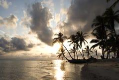 Paradise Islands in Guna Yala, Kuna Yala, San Blas, Panama. Sunset. Sunrise. Paradise islands in Guna Yala, Kuna Yala, San Blas, Panama. Sunrise. Sunset. Palms stock photography