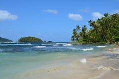 Isla Mamey in Panama in the Caribbean Sea. The paradise like Isla Mamey, a tiny little tropical island located in the caribbean sea in the province of Colon in stock photos