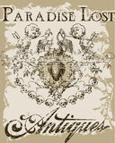 Paradise lost. Vintage old t shirt design Royalty Free Stock Photography