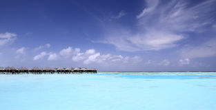 Paradise in maldives stock photography