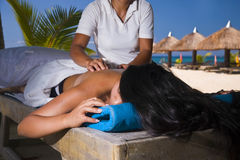 Paradise Massage Stock Images