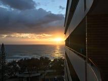 Paradise Morning. Sunrise at Gold Coast Australia Stock Photography
