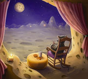 Paradise for mouse. Illustration depicts paradise for mice Stock Photography