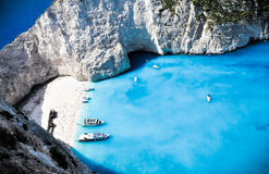 Paradise Navagio bay and beach. Zakynthos, Greece Stock Photography