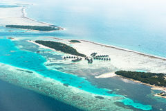 Paradise Palm Island. Aerial View Royalty Free Stock Image