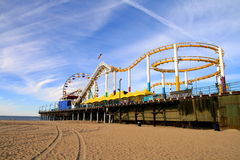 Paradise park. The Pacific park is an amazing which is located in the coast of Santa Monica.Just like a park built in paradise Royalty Free Stock Photo
