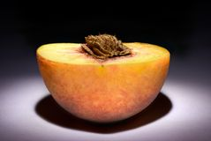 Paradise peach. Curative properties: The peach improves digestion. It recommend at heart diseases. Softens damaging force of stress on an organism. Well helps Royalty Free Stock Photography