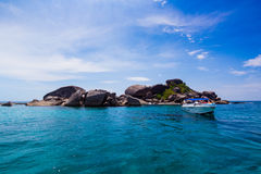 A paradise with perfect crystal clear sea, Similan islands Royalty Free Stock Photos