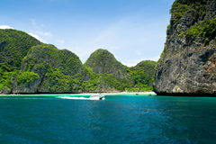 Paradise in Phi Phi island, Phuket. Royalty Free Stock Photos