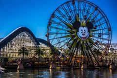 Paradise Pier and Gondola Wheel at California Adventure Stock Image