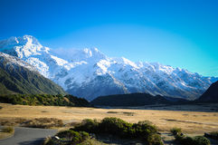 Paradise places in New Zealand / Mount Cook National Park. Aoraki/Mount Cook National Park is in the South Island of  Zealand, near the town of Twizel. Aoraki / Royalty Free Stock Photography