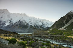 Paradise places in South New Zealand / Mount Cook National Park. Aoraki Mount Cook National Park [1] is dominated by the peaks of Aoraki Mount Cook, New Zealand` Stock Photo