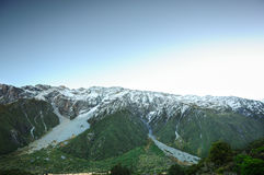 Paradise places in South New Zealand / Mount Cook National Park. Aoraki Mount Cook National Park [1] is dominated by the peaks of Aoraki Mount Cook, New Zealand` Royalty Free Stock Images