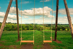 Paradise Playground - Swings - What a wonderful world Royalty Free Stock Images