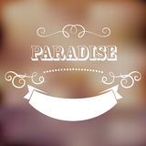 Paradise poster Royalty Free Stock Image