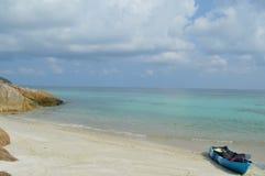 Paradise remote beach Stock Photos