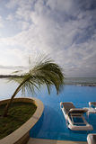 Paradise resort pool Royalty Free Stock Image
