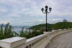 Paradise resort road promenade stock images