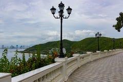 Paradise resort road promenade royalty free stock image