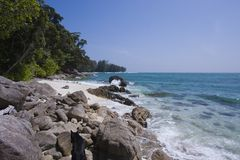 Paradise rocky beach at Koh Adang, South Thailand Stock Images