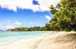 Paradise sandy beach on Silhouette Island, Seychelles Stock Image