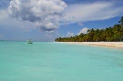Paradise. In Saona Caraibe summer Royalty Free Stock Images