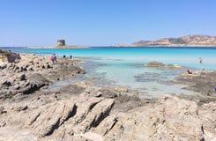 Paradise of sea, Mediterranean. Angle of Sardinia Stock Photos