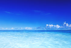 Paradise Sea Ocean Sky Blue Tropical Summer Vacation Concept Stock Image