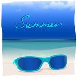 01 paradise Sea sunglasses Royalty Free Stock Images