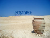 Paradise sign pottery Royalty Free Stock Images