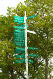 Paradise sign signal post in New York Battery Park Royalty Free Stock Photography