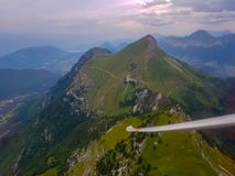 Paradise sky from glider stock photo