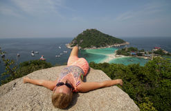 Paradise. Spectacular view in Thailabd Koh Tao Royalty Free Stock Image
